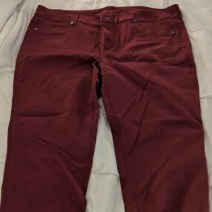 Maurices Maroon Skinny Jeans